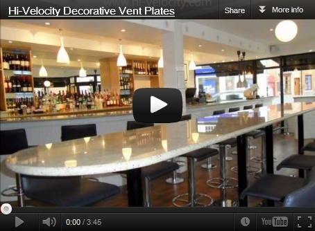 Click here to see different decorative vent plate applications.